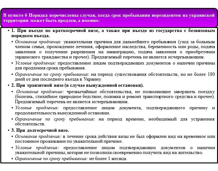 Пребывание иностранца на территории Украины по визе